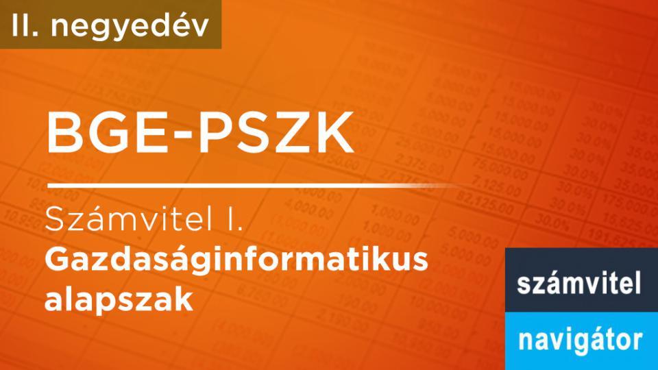 BGE PSZK: Számvitel 1