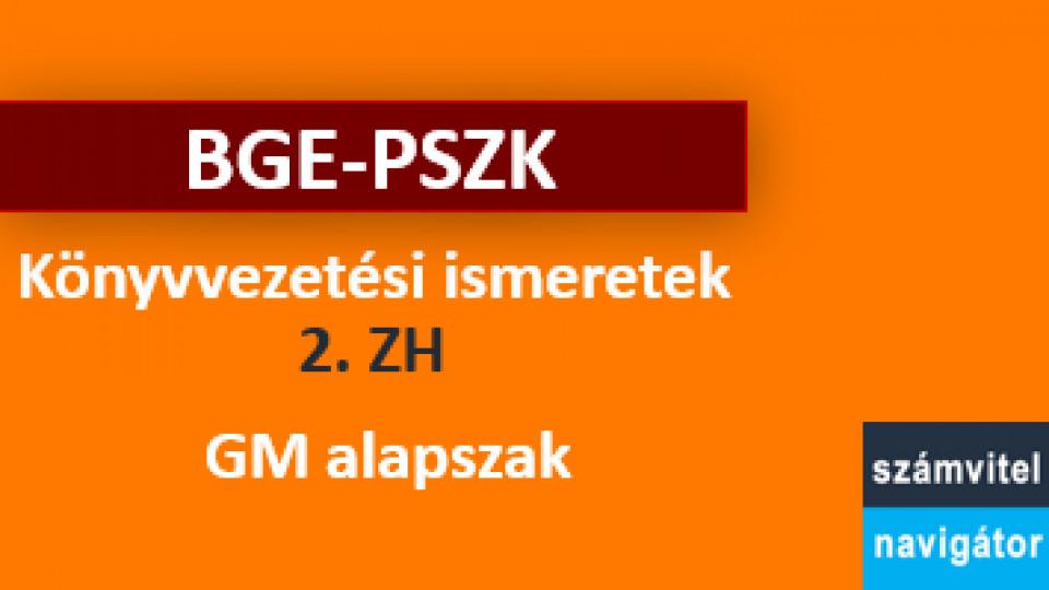 Könyvvezetési ismeretek ZH 2 felkészítő